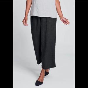 Flax Linen High Rise Black Lightweight Pants